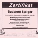 Susanne Steiger, anima-natura.com Physio- und Osteopathiepraxis für Hunde
